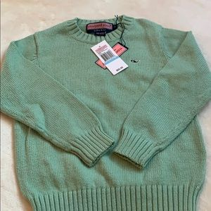 Vineyard Vines cotton sweater.  Soft green. Size 5